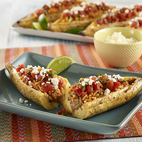 STUFFED CUBAN PLANTAIN BOATS