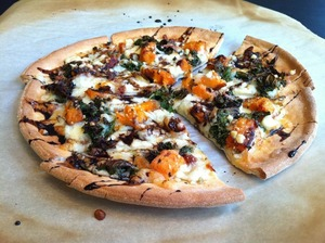 ROASTED VEGGIE PIZZA WITH BALSAMIC REDUCTION