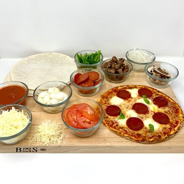 BUILD YOUR OWN PIZZA BAR